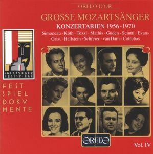 Grosse Mozartsänger Vol.4-Konzertarien 1956-1970, Mathis, Tozzi, Güden, Cotrubas, Camerata Academica
