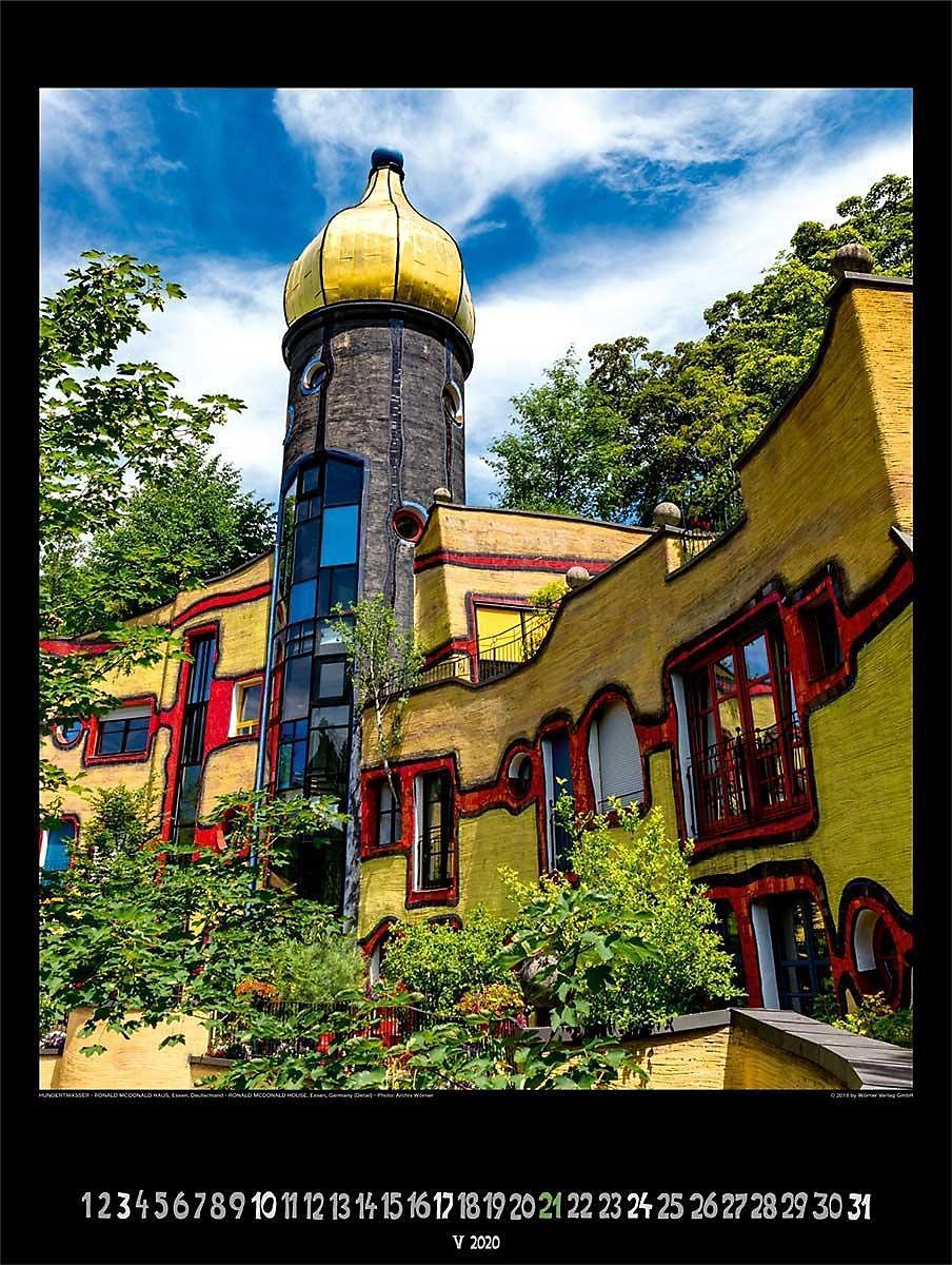 Gro er hundertwasser architektur kalender 2020 kalender for Hundertwasser architektur