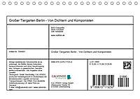 Grosser Tiergarten Berlin - Von Dichtern und Komponisten (Tischkalender 2019 DIN A5 quer) - Produktdetailbild 13