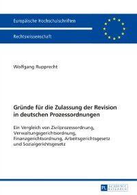 Gruende fuer die Zulassung der Revision in deutschen Prozessordnungen, Wolfgang Rupprecht