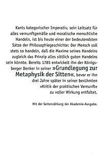 Grundlegung zur Metaphysik der Sitten - Produktdetailbild 1