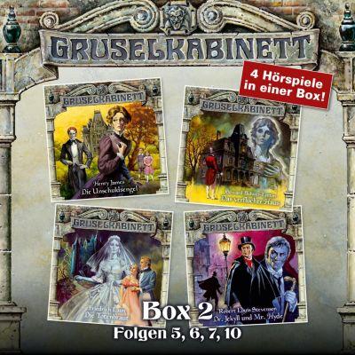 Gruselkabinett, Box: Gruselkabinett, Box 2: Folgen 5, 6, 7, 10, Robert Louis Stevenson, Henry James, Edward Bulwer-Lytton, Friedrich Laun