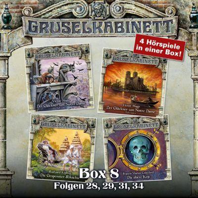 Gruselkabinett, Box: Gruselkabinett, Box 8: Folgen 28, 29, 31, 34, Victor Hugo, Rudyard Kipling, Francis Marion Crawford