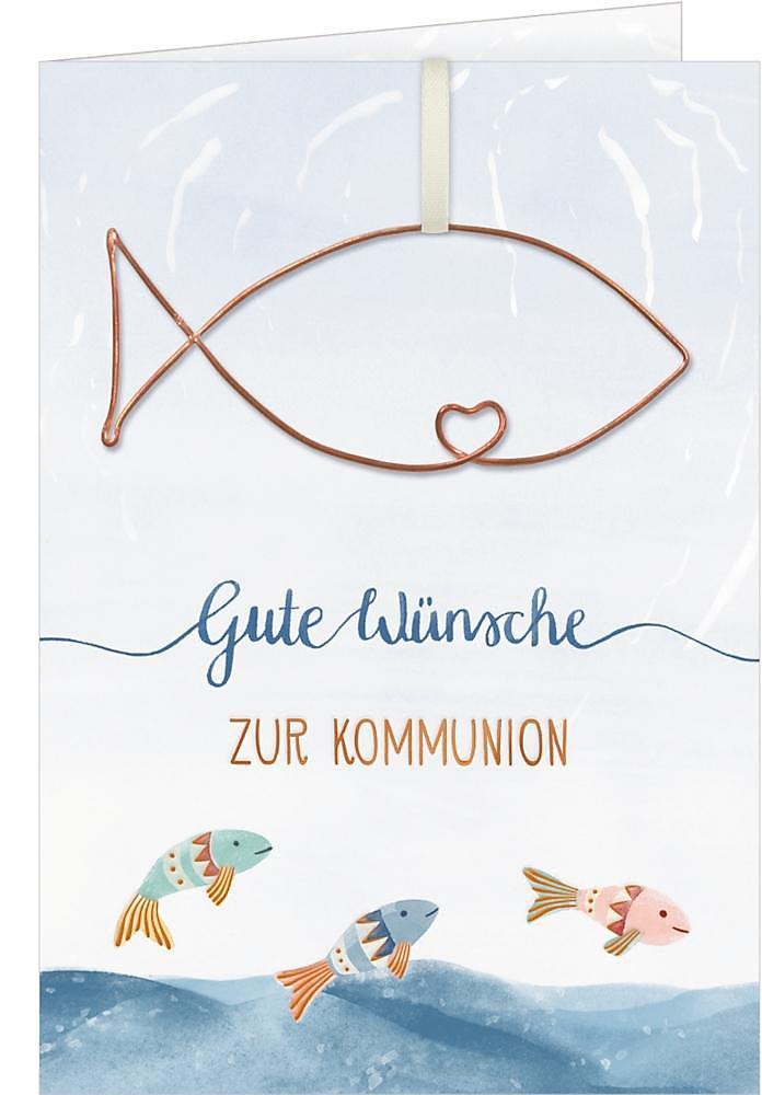 Kommunion Karte Schreiben.Grusskarte Gute Wunsche Zur Kommunion Buch Weltbild De