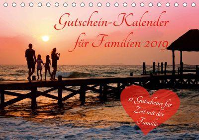 Gutschein-Kalender für Familien 2019 (Tischkalender 2019 DIN A5 quer), Steffani Lehmann (Hrsg.)