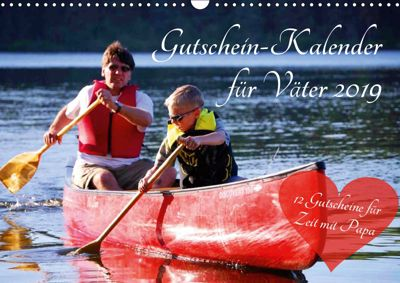 Gutschein-Kalender für Väter 2019 (Wandkalender 2019 DIN A3 quer), Steffani Lehmann