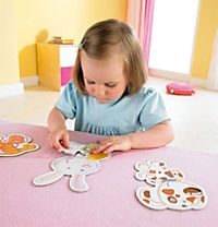 "HABA 3902 6 Erste Puzzles ""Haustiere"" + Holzfigur - Produktdetailbild 1"