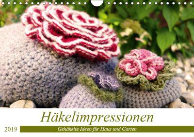 Häkelimpressionen - Gehäkelte Ideen für Haus und Garten (Wandkalender 2019 DIN A4 quer), Inge Przewlocki