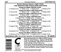Händel Violinsonaten - Produktdetailbild 1