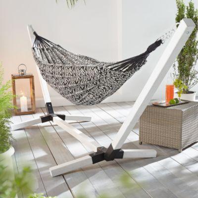 h ngematte porto wei schwarz jetzt bei bestellen. Black Bedroom Furniture Sets. Home Design Ideas