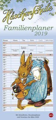Häschenschule Familienplaner 2019