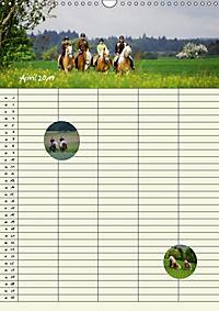 Haflinger Pferde - Stall- und Familienplaner 2019 (Wandkalender 2019 DIN A3 hoch) - Produktdetailbild 4