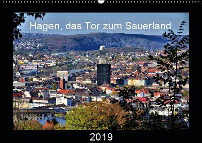 Hagen, das Tor zum Sauerland (Wandkalender 2019 DIN A2 quer), Uwe Reschke