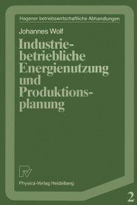 Hagener Betriebswirtschaftliche Abhandlungen: Industriebetriebliche Energienutzung und Produktionsplanung, Johannes Wolf