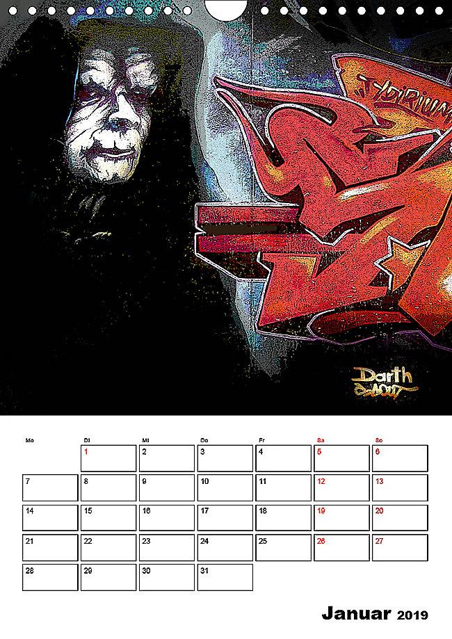 Halloween Graffiti Streetart Zum Gruseln Wandkalender 2019 Din A4