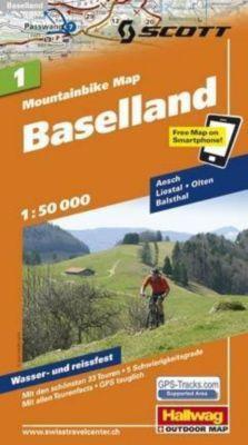 Hallwag Mountainbike Map Baselland Mountainbike-Karte