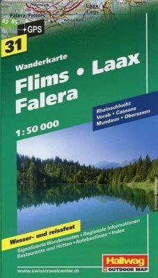 Hallwag Outdoor Map Flims - Laax - Falera