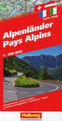 Hallwag Straßenkarte Alpenländer / Pays Alpins / Alpine Countries / Paesi Alpini - Hallwag Kümmerly+Frey AG |