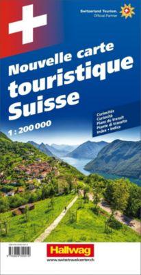 Hallwag Strassenkarte Grosse Reisekarte Schweiz; Nouvelle carte touristique Suisse