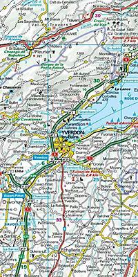Hallwag Strassenkarte Grosse Reisekarte Schweiz; Nouvelle carte touristique Suisse - Produktdetailbild 2