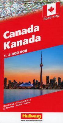 Hallwag Straßenkarte Kanada; Canada