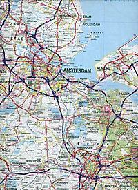 Hallwag Straßenkarte Niederlande; Nederland; Netherlands; Pays-Bas - Produktdetailbild 2