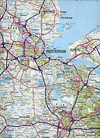 Hallwag Strassenkarte Niederlande; Nederland; Netherlands; Pays-Bas - Produktdetailbild 2