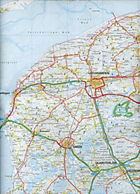 Hallwag Strassenkarte Niederlande; Nederland; Netherlands; Pays-Bas - Produktdetailbild 1