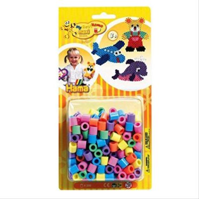 HAMA Bügelperlen Maxi - Vollton Mix 250 Perlen (7 Farben)