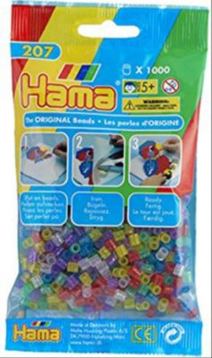 HAMA Perlen Transparent Glitter 1.000 Stück