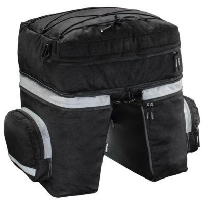 Hama Fahrrad-Gepäcktasche für Gepäckträger, 3-teilig, Schwarz
