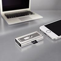 """Hama Lightning-USB-Kartenleser """"MoveData"""", microSD, Silber - Produktdetailbild 3"""