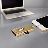 """Hama Lightning-USB-Kartenleser """"MoveData"""", microSD, Gold - Produktdetailbild 3"""