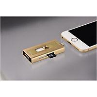 """Hama Lightning-USB-Kartenleser """"MoveData"""", microSD, Gold - Produktdetailbild 1"""