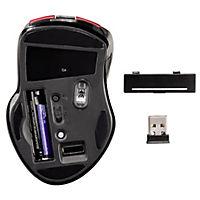 """Hama Wireless Laser Mouse """"Mirano"""", geräuschlos, Rot/Schwarz - Produktdetailbild 2"""