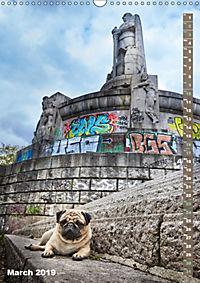 Hamburg - a pug city (Wall Calendar 2019 DIN A3 Portrait) - Produktdetailbild 3