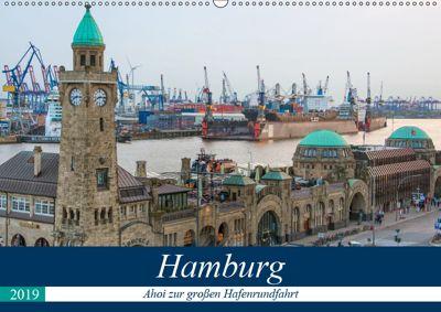 Hamburg - Ahoi zur großen Hafenrundfahrt (Wandkalender 2019 DIN A2 quer), Gabriele Krug