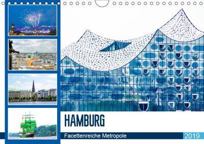 Hamburg - facettenreiche Metropole (Wandkalender 2019 DIN A4 quer), Nina Schwarze