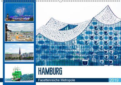 Hamburg - facettenreiche Metropole (Wandkalender 2019 DIN A2 quer), Nina Schwarze