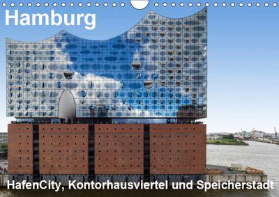 Hamburg. HafenCity, Kontorhausviertel und Speicherstadt. (Wandkalender 2019 DIN A4 quer), Thomas Seethaler