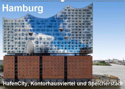 Hamburg. HafenCity, Kontorhausviertel und Speicherstadt. (Wandkalender 2019 DIN A2 quer), Thomas Seethaler