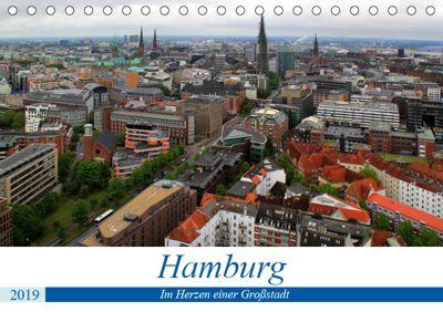 Hamburg - Im Herzen einer Großstadt (Tischkalender 2019 DIN A5 quer), Arno Klatt