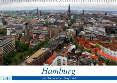 Hamburg - Im Herzen einer Grossstadt (Wandkalender 2019 DIN A2 quer), Arno Klatt