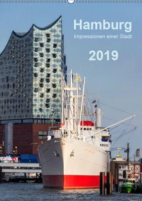 Hamburg - Impressionen einer Stadt (Wandkalender 2019 DIN A2 hoch), Klaus Kolfenbach