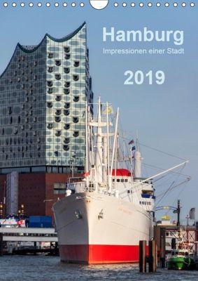 Hamburg - Impressionen einer Stadt (Wandkalender 2019 DIN A4 hoch), Klaus Kolfenbach