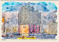 Hamburg - malerische Metropole (Wandkalender 2019 DIN A2 quer) - Produktdetailbild 1