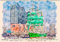 Hamburg - malerische Metropole (Wandkalender 2019 DIN A2 quer) - Produktdetailbild 11