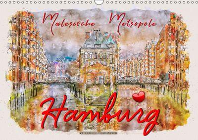 Hamburg - malerische Metropole (Wandkalender 2019 DIN A3 quer), Peter Roder