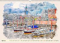 Hamburg - malerische Metropole (Wandkalender 2019 DIN A3 quer) - Produktdetailbild 4
