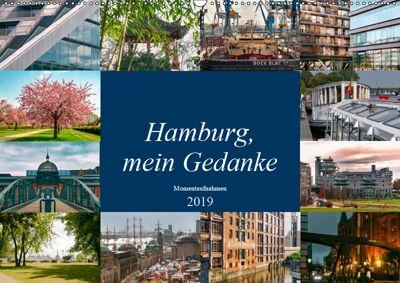 Hamburg, mein Gedanke (Wandkalender 2019 DIN A2 quer), Carmen Steiner / Matthias Konrad